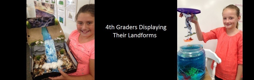 4th Graders Displaying Their Landforms