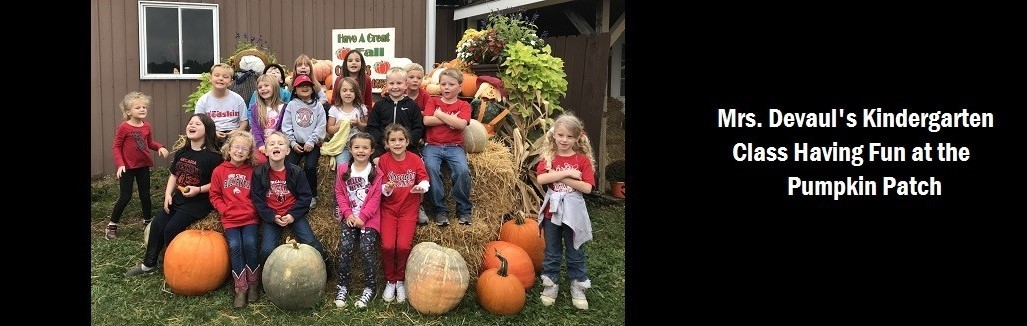 Mrs. Devaul's Kindergarten Class at the Pumpkin Patch