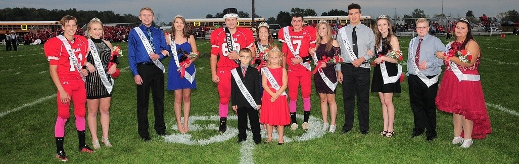 2017 Arcadia Redskins Home Coming Court