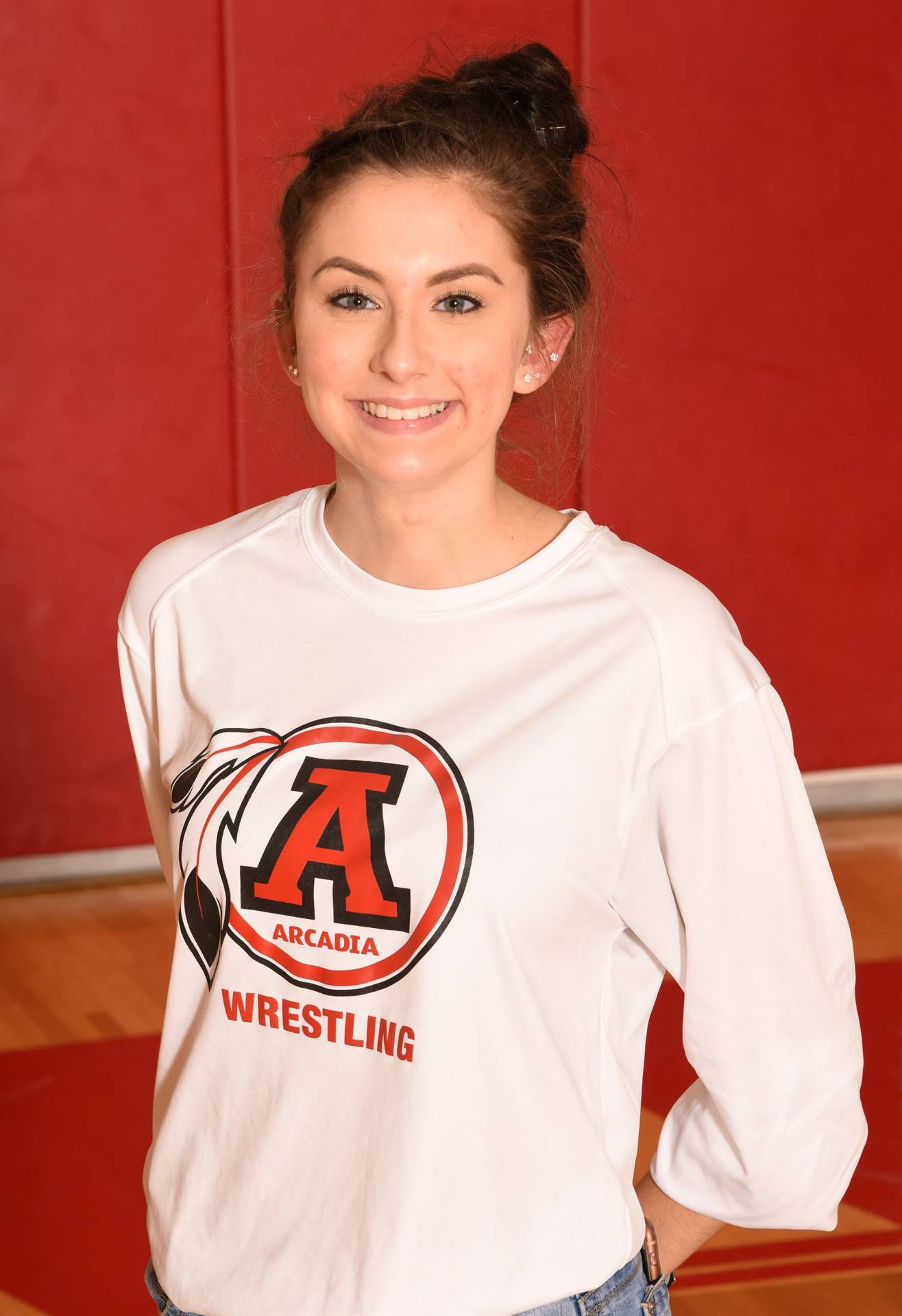 Senior Wrestling Mat Maid Alyssa Clagg