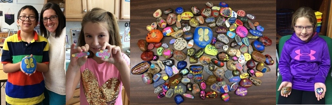 Kindness Rocks for the Students at Hopewell Loudon
