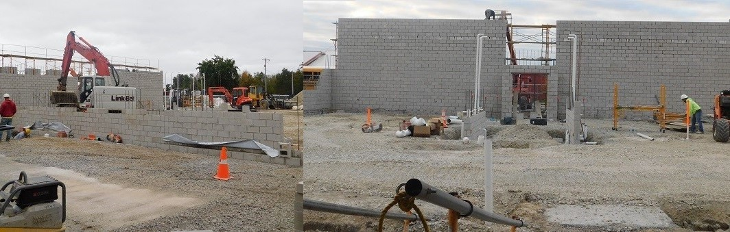 The walls are going up for the new classrooms