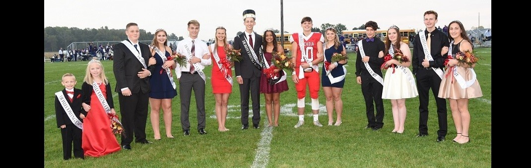 2018 Arcadia Redskins Homecoming Court