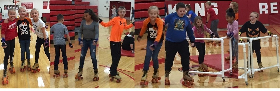 Elementary Students Enjoying Skate Time in PE