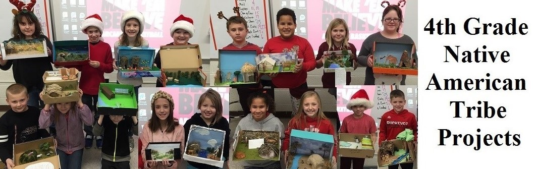 Photo Collage of 4th Grade Native American Projects