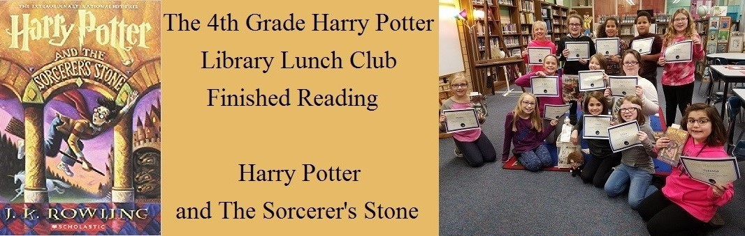 Picture of the 4th grade Harry Potter library lunch club