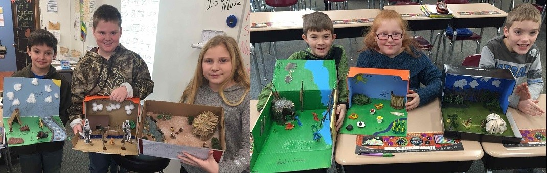 4th Grade Native American ShoeBox Diorama Projects