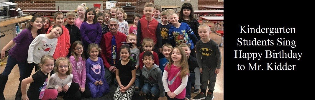 Kindergarten Students Sing Happy Birthday to Mr. Kidder
