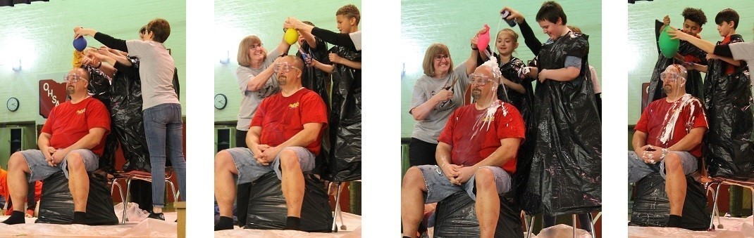 Mr Golden is slimed after another successful Race for Education