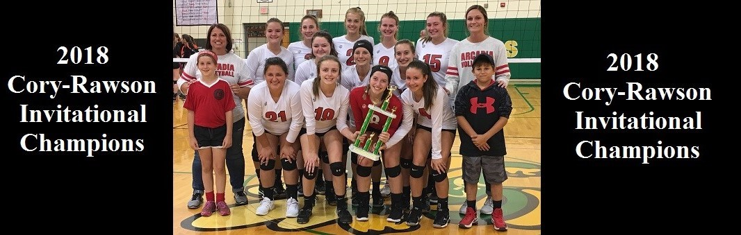 2018 Cory-Rawson Volleyball Invitational Champions team picture