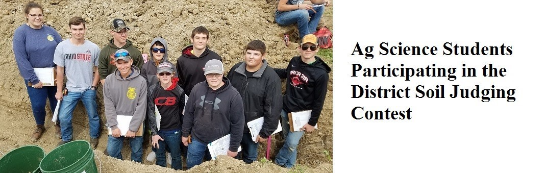 Ag Science Students Participating in the District Soil Judging Contest