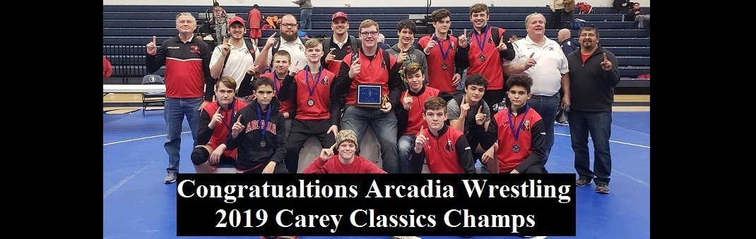 Arcadia Wrestling Team Photo From Carey Classics