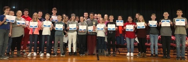 Picture of the Participants of the Arcadia Middle School Spelling Bee