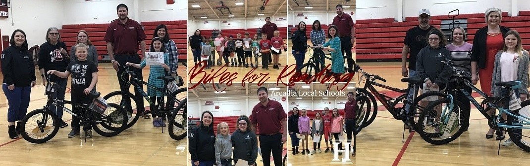 Winners of The Bikes for Reading Program
