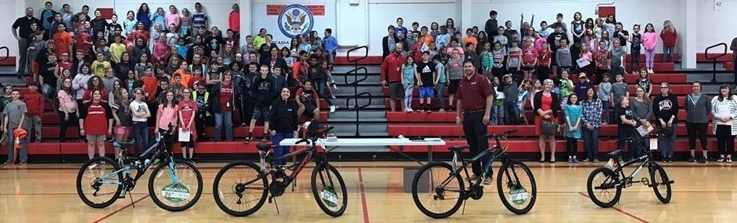 Hitchings Insurance Agency sponsored the 1st Bikes for Reading program.