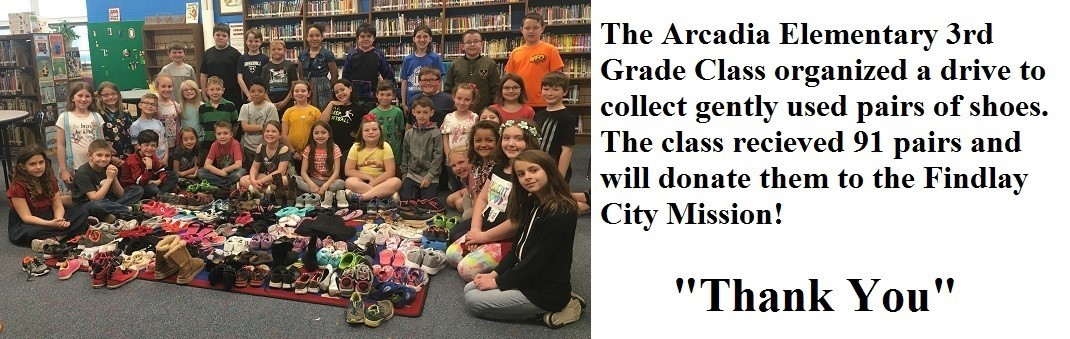 """The 3rd graders organized a shoe drive. They asked for gently used pairs of shoes to donate and received 91 pairs! Thank you!"""