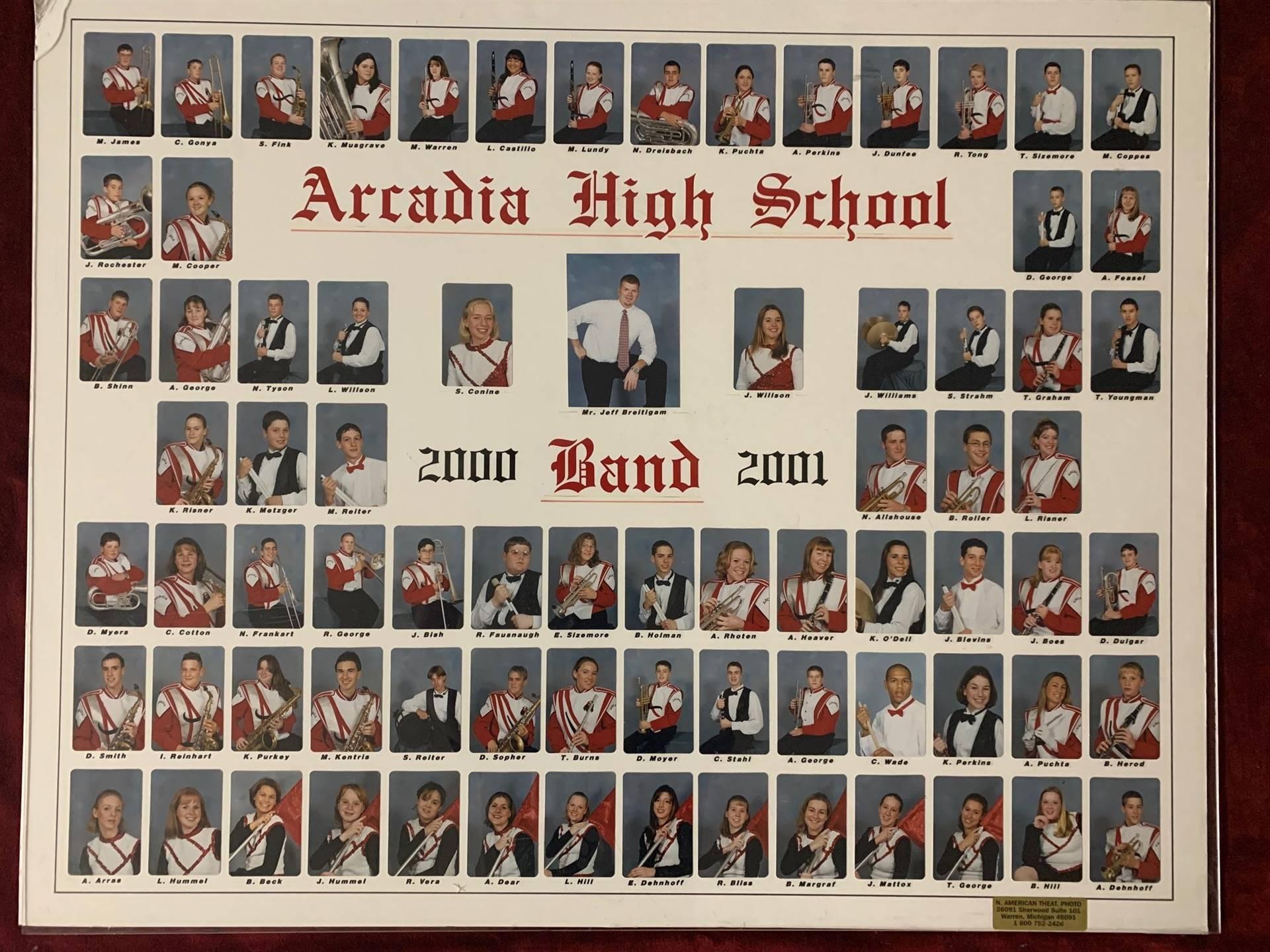 Arcadia High School Band 2000-2001