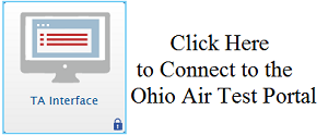Ohio Air Test Portal Login Page