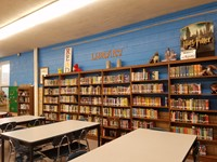 New paint in elementary library!