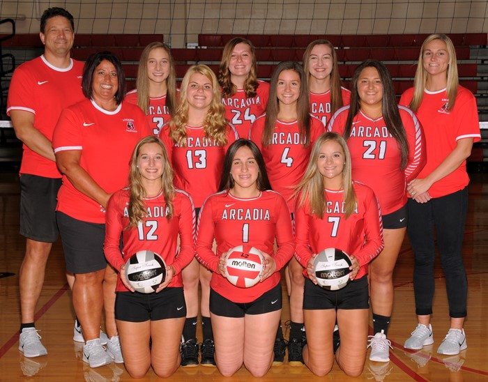 Arcadia Redskins 2019 Varsity Volleyball Team