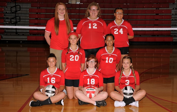 Arcadia Redskins 2019 7th Grade Volleyball Team