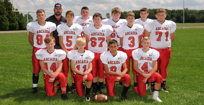 Arcadia Redskins 2019 JH Football Team