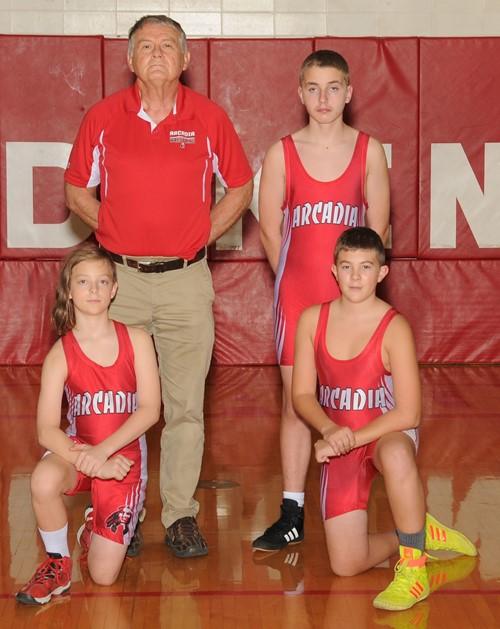 2020-21 Arcadia Redskins Jr. High Wrestling Team Photo