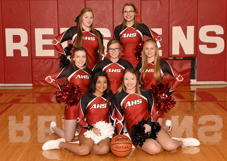 2017-18 Varsity Basketball Cheerleaders
