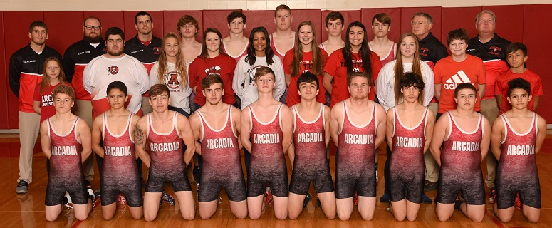 2018-19 Arcadia Wrestling Team Photo