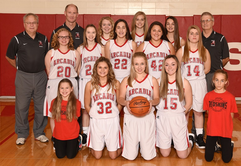 2018-19 Arcadia Lady Redskins JV Basketball Team Photo