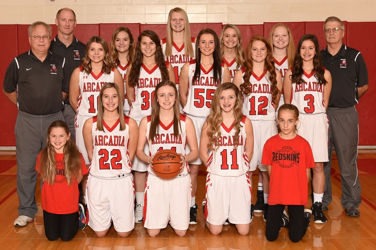 2018-19 Arcadia Lady Redskins Varsity Basketball Team Photo