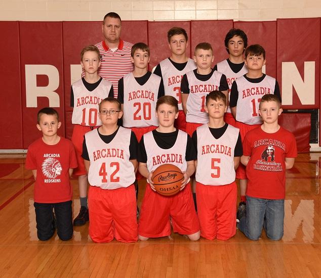 2018-19 Arcadia Redskins 7th Grade Basketball Team Photo