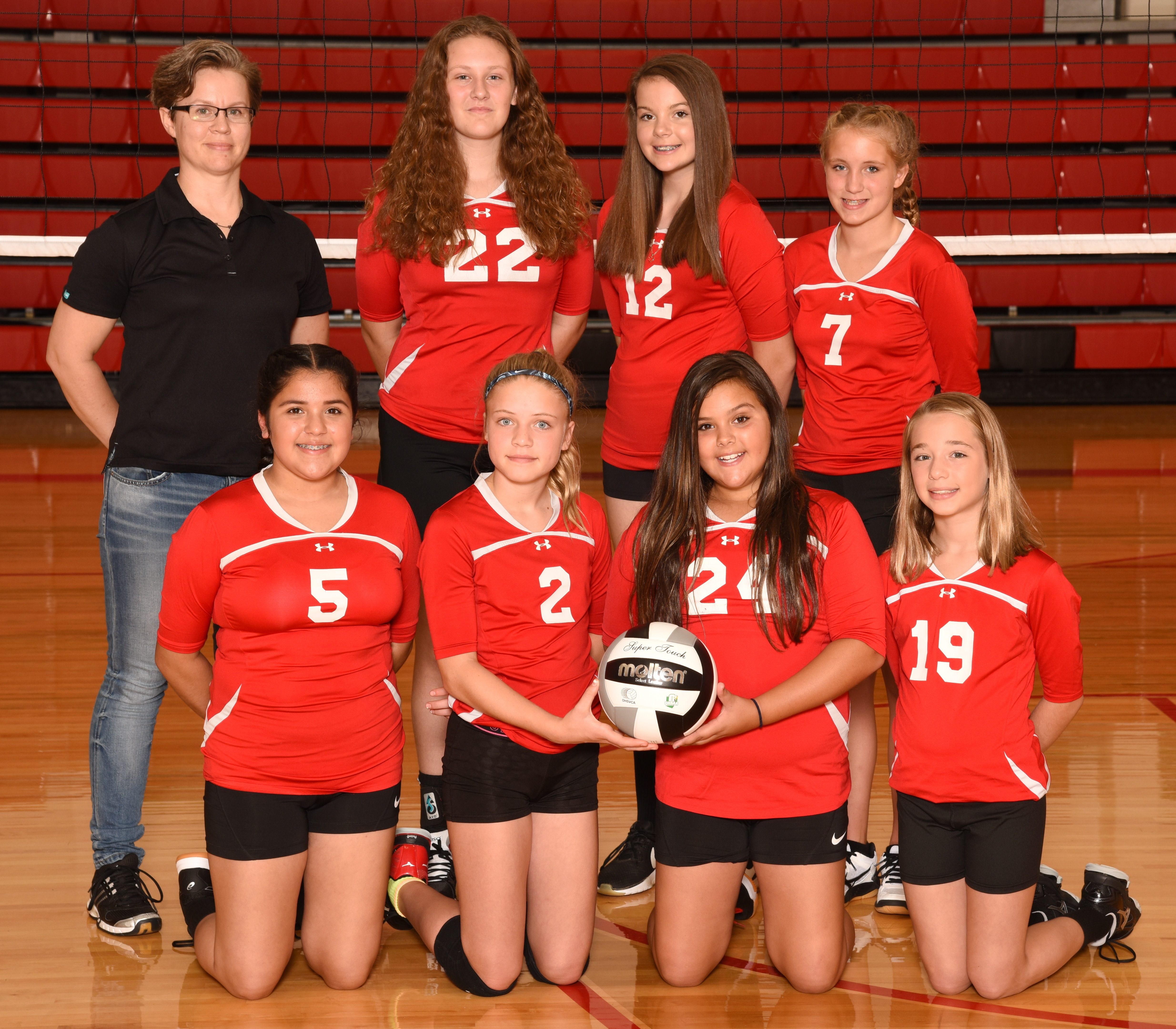 Arcadia Redskins 2018 7th Grade Volleyball Team