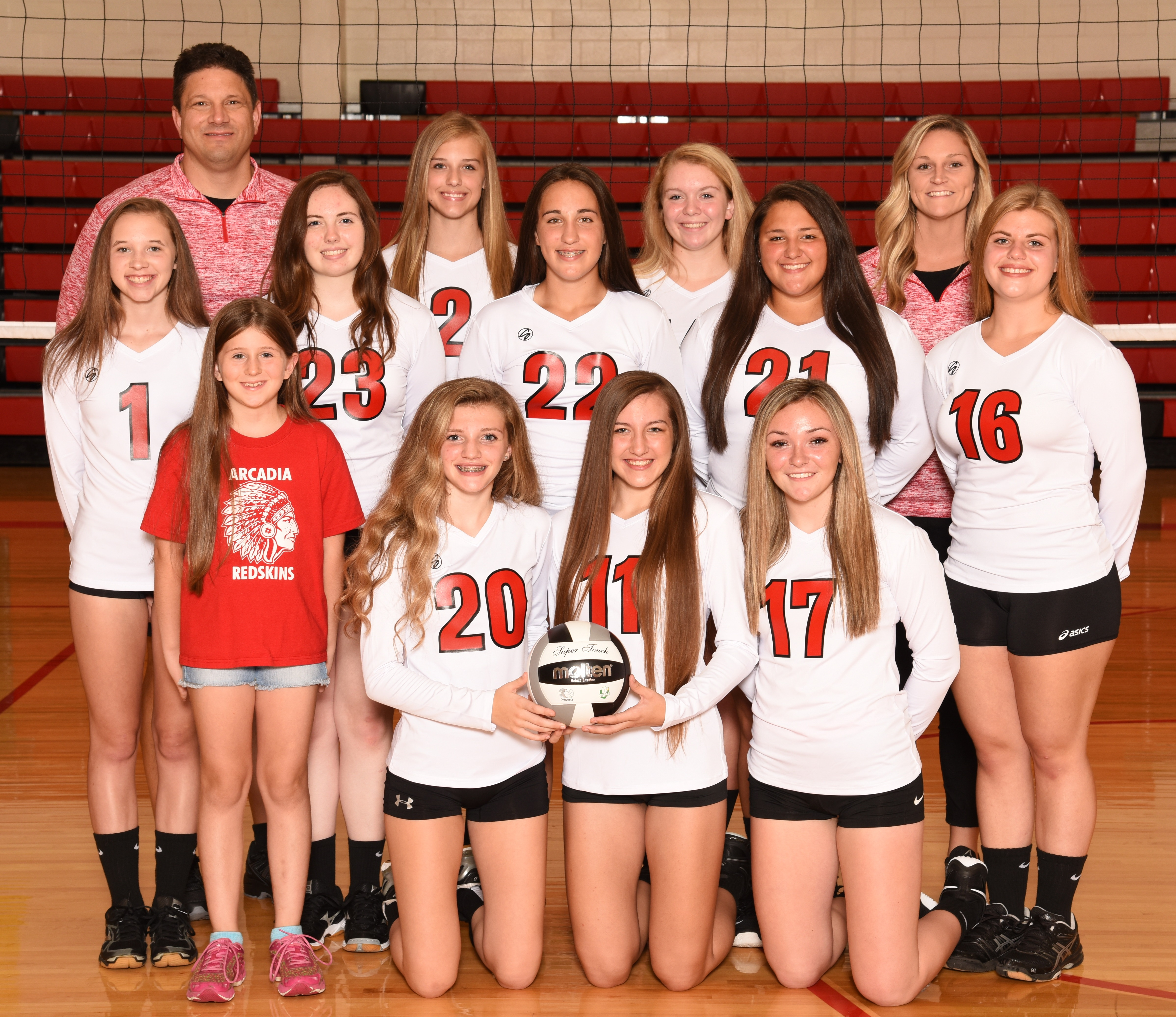 Arcadia Redskins 2018 JV Volleyball Team