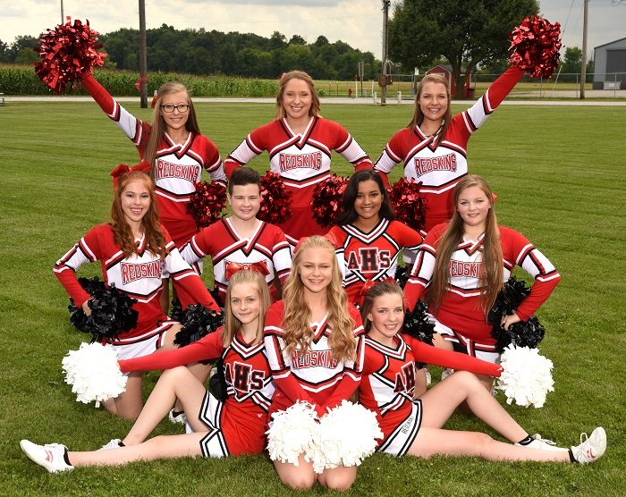 Arcadia Redskins 2018 Competition Cheerleaders Squad Photo