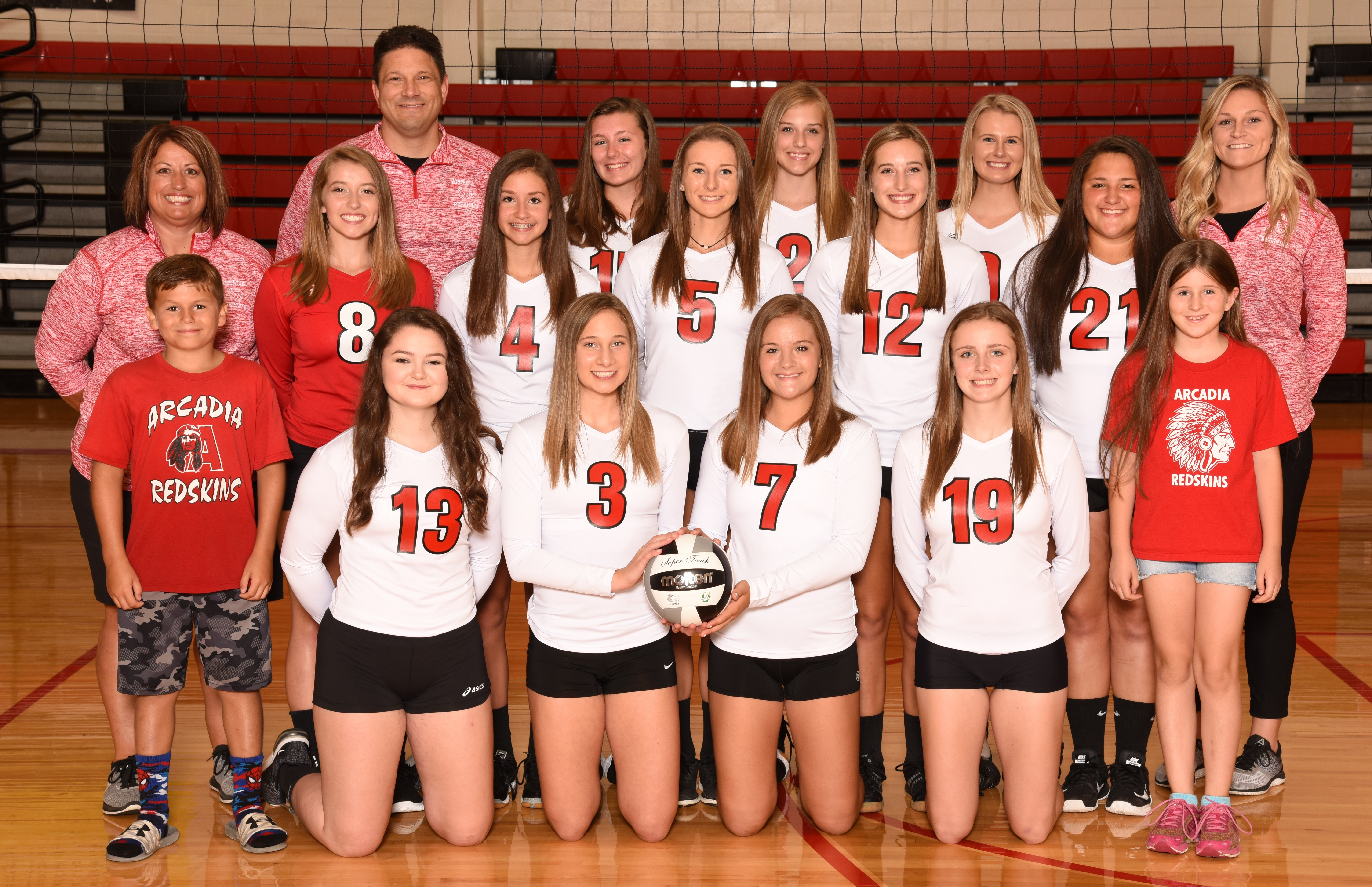 Arcadia Redskins 2018 Varsity Volleyball Team