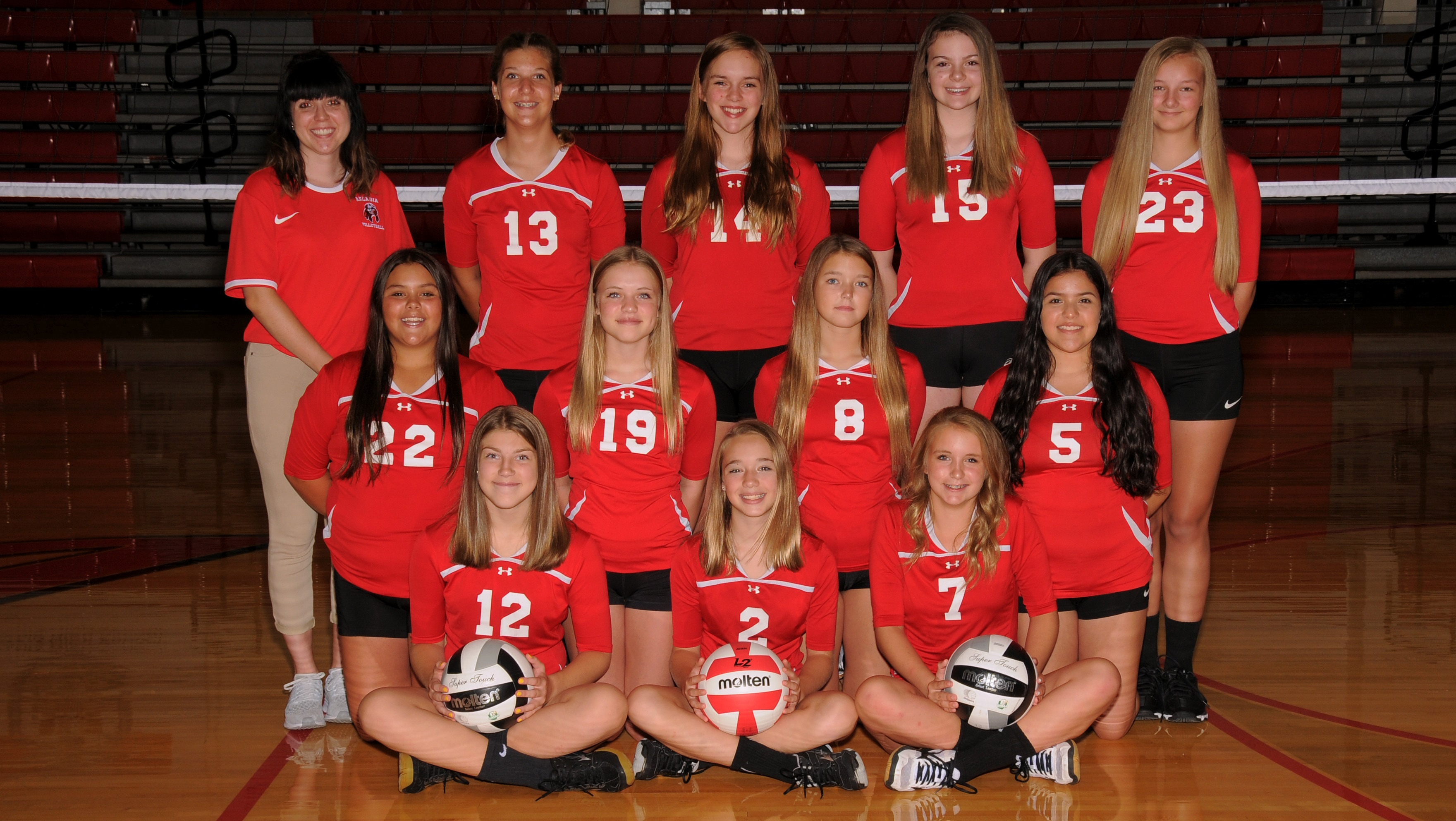 Arcadia Redskins 2019 8th Grade Volleyball Team