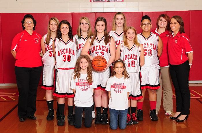 2013 14 arcadia redskins 8th grade girls basketball team