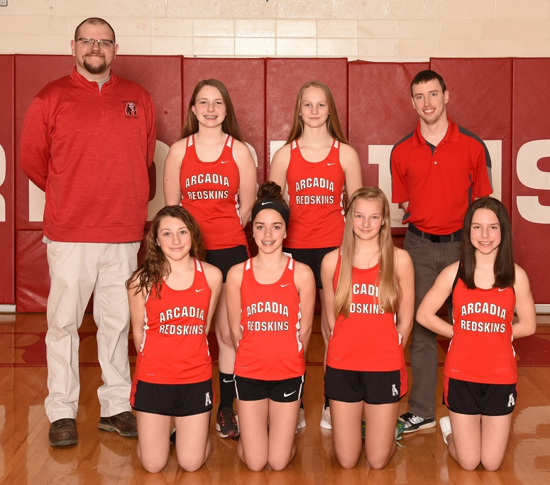 2018-19 Arcadia Redskins JH Girl's Track Team Photo