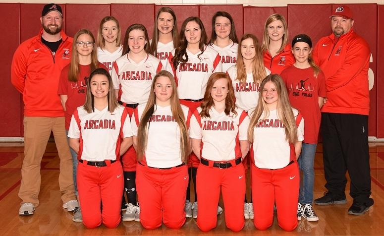2018-19 Arcadia Redskins JV Softball Team Photo