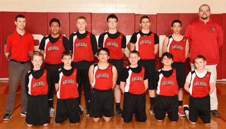2018-19 Arcadia Redskins JH Boy's Track Team Photo